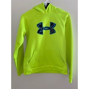 Neon green hoodie - Size YLG